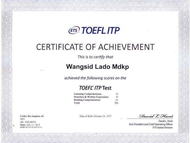 sertifikattoefl