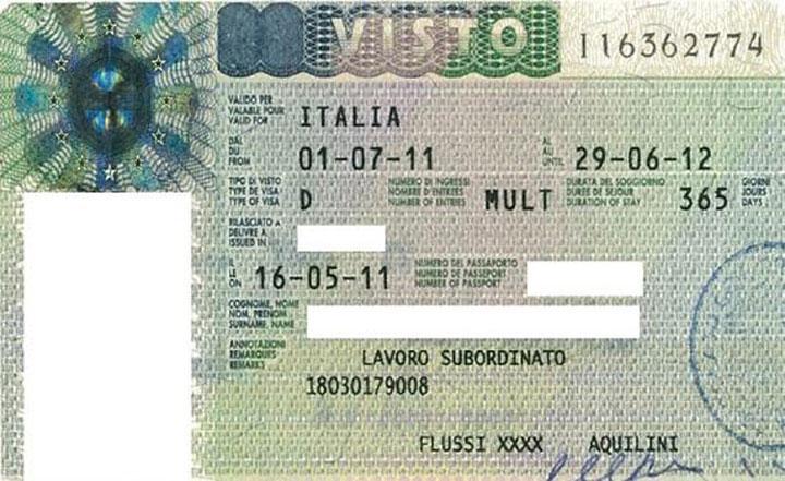 Довгострокова національна віза Італія