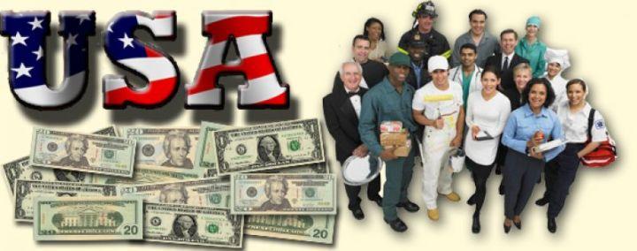 найти работу в США